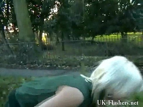 Welsh blonde Public Flashing Nudity