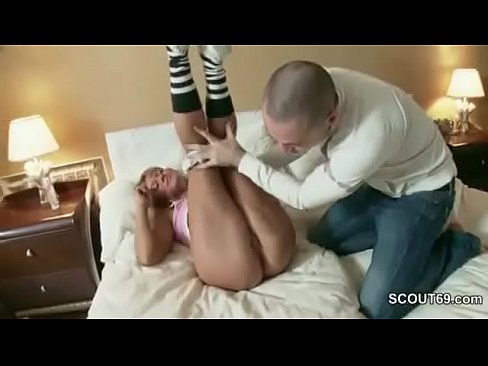 Brother Caught Petite Step-sister and Seduce to Fuck