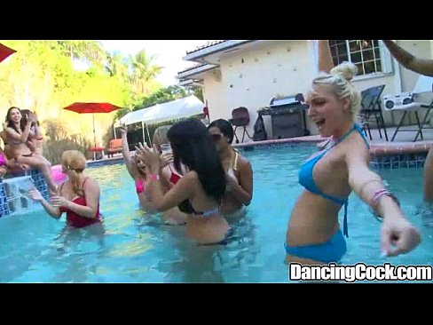 Dancingcock Poolside Huge Cock Orgy