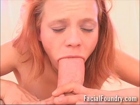 Little Redhead Tries Taking Cock Down Her Throat