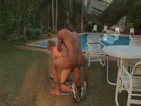 Enchanting young studs enjoying laving anal pumping outdoors