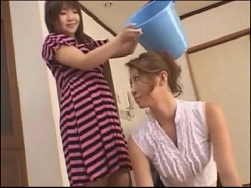 Asian teen slaps around her mother - foot domination