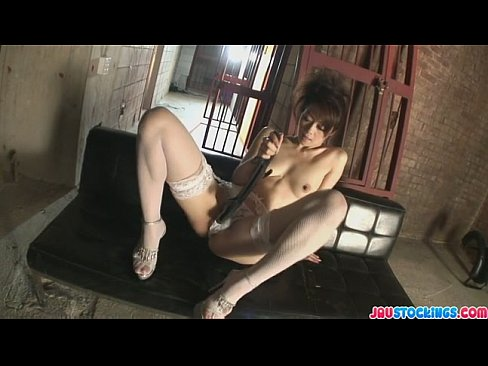Japanese milf Hojo looking hot and sexy in her lingerie