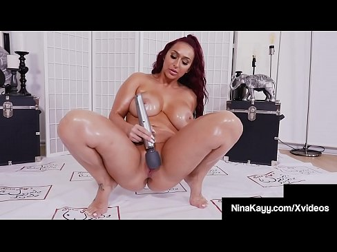 Oil Change? Curvy Nina Kayy Squirts While Bating Plump Pussy
