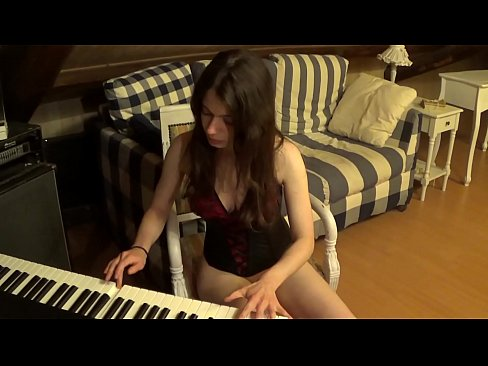 She distracts her girlfriend from piano practice for some hot lesbian sex