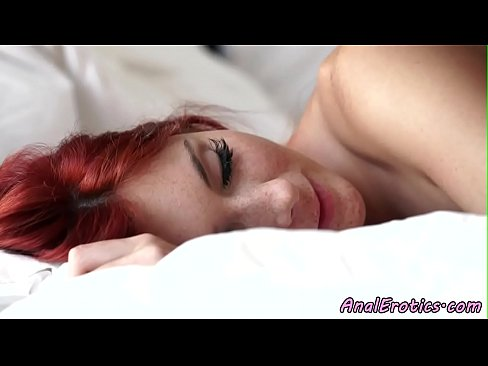 Young redhead babe assfucked and jizzed