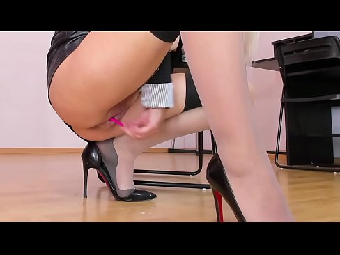Horny employee masturbating pussy and clit in high heels and stockings in the office  | WATCH ME LIVE: katehaven.hot4cams.com