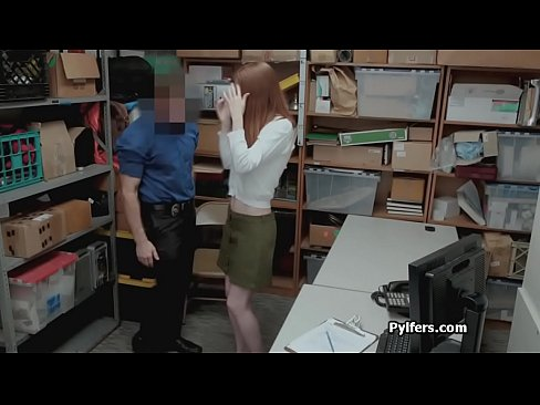 Redhead clothes stealer blows after getting caught