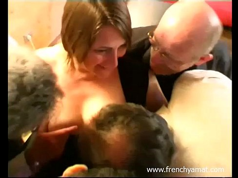 French amateur wife gangbang