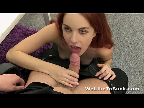 Blowjob redhead likes to suck