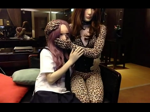 Female mask kigurumi bondage