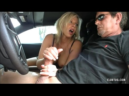 Sexy milf jerking dick 1