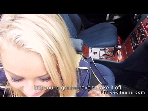 Blonde Gives Blowjob In The Car