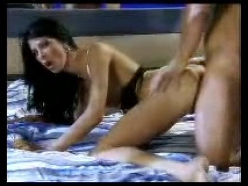 Busty brunette Michaela Sabbatini gets ass rubbed with cock from behind