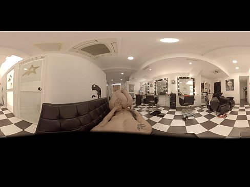 VR Porn Special Hairdresser. New Treatment Blowjob