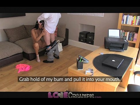 Love Creampie British babe with huge boobs gets a sticky load from behind