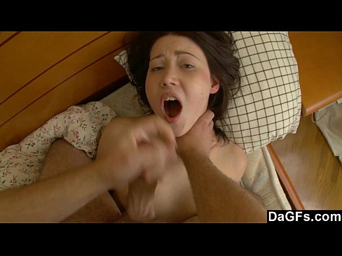 Young brunette wants her first rough anal ...
