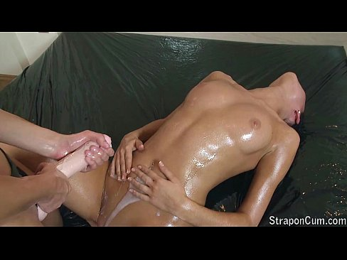 Requested - Oiled strapon play