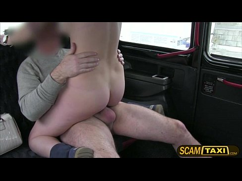 Pretty passenger screwed in the backseat for a free cab fare