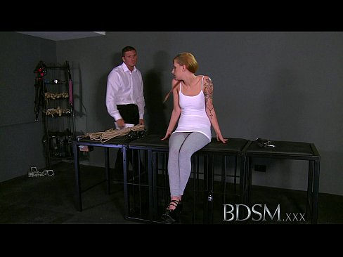 BDSM XXX Teen Sub Girls Innocent Face Drips With Masters Hot Cum