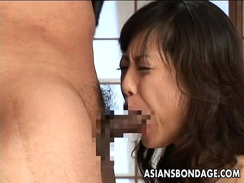Tied up Asian hottie gets creampied hard