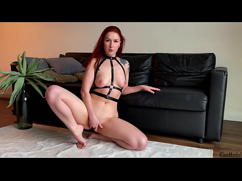 Real Orgasm From Redhead Wife In Sexy Lingerie. KleoModel