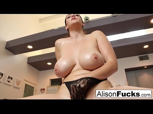 Busty Alison Tyler helps the viewer cum