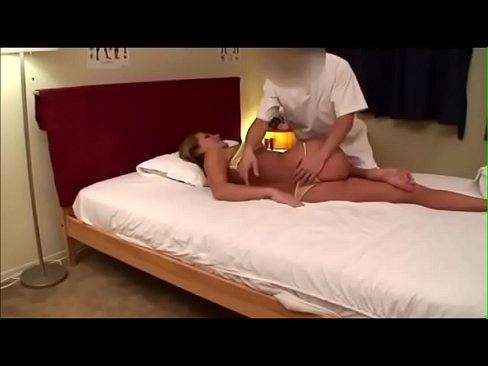 Married Blonde get's tricked into fucking while getting Massage