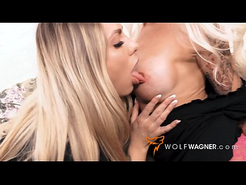 Yummy morning 3some for breakfast with German MILF Sophie Logan & Mia Blow! WolfWagner.com