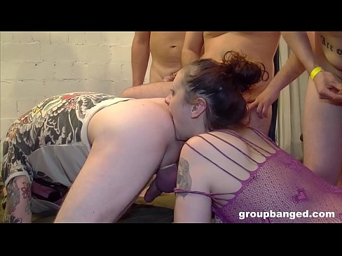 Street sluts paid to fuck and rim guys in a big gangbang