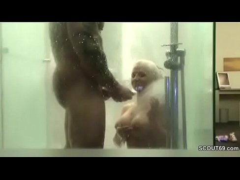 German Couple Fuck in Shower and Filmed with Hidden Cam