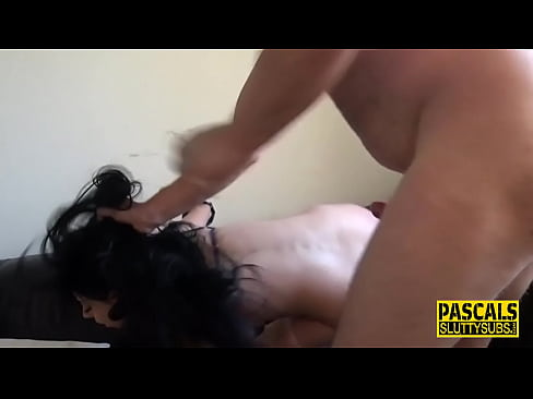 Bound submissive milf with big boobs