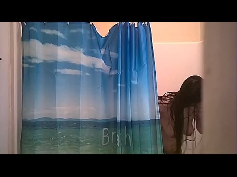 Meth head 19 years old latina niece taking a shower after a fuck session with uncle she does this almost every weekend