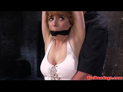 Ginger bdsm sub anal hooked before toying