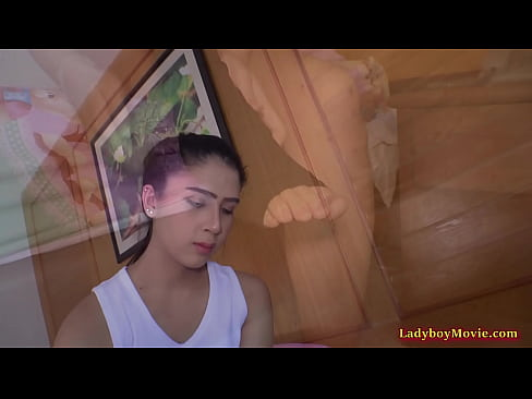 Young Thai shemale Bipor sucks dick and gets ass fucked bareback