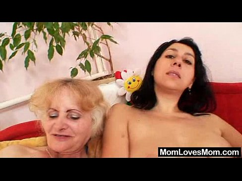 Lesbian Mature Granny video: Eager amateur mamma toys pervy shaggy grannie