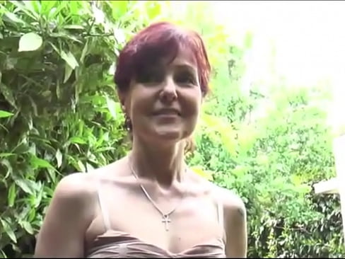 French cougar Joyce Mifle sucks and fucks three cocks