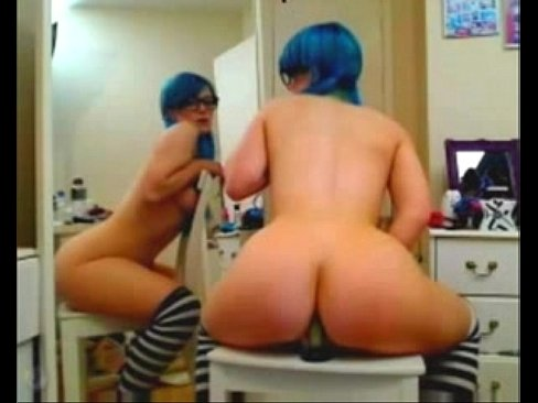 naked emo using dildo