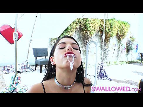 SWALLOWED – This girl must be out of her mind because she sucks it dirty