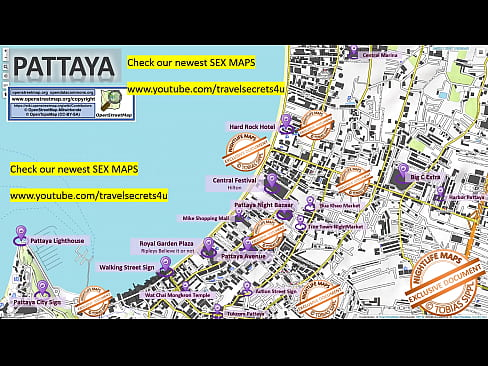 Street Prostitution Map of Pattaya in Thailand ... Strassenstrich, Sex Massage, Streetworkers, Freelancers, Bars, Blowjob