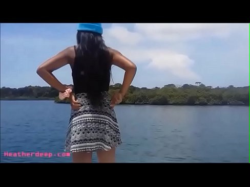 HD tight tiny pussy thai teen heather deep gets (中出)creampie after deepthroat on boat