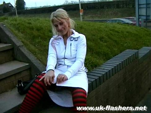 British Girl Flashing Outside