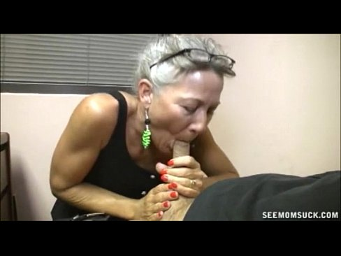Very Old Grandmother Licking Young Boy's Botheration