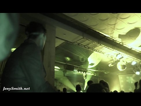 Upskirt flashing in a club by Jeny Smith. Hidden camera