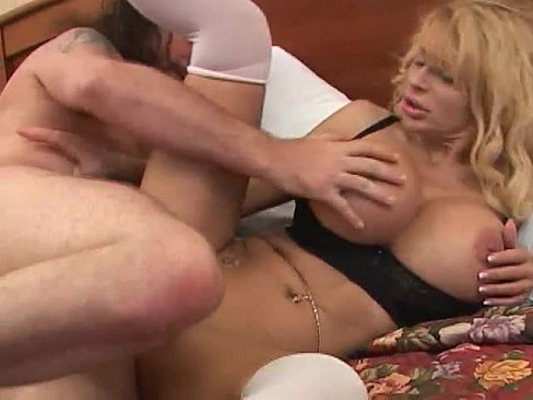 Blonde Milf with Huge Tits gets fucked hard