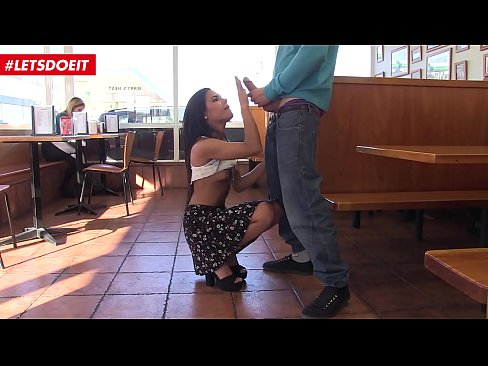 Petite Latina fucked in coffee shop (Apolonia Lapiedra)