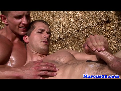 Gay muscular farmboys sucking dick outdoors