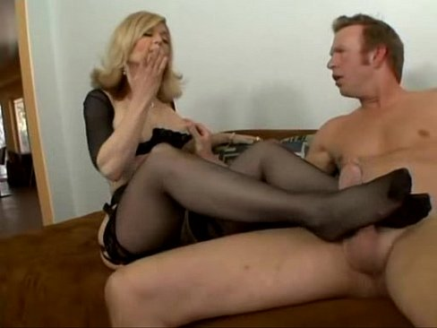 Nina Hartley - footjob
