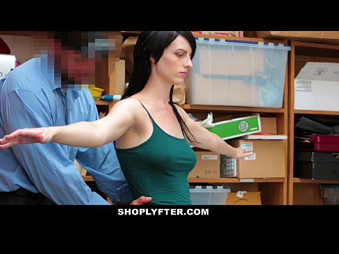 Shoplyfter skinny teen blackmailed and stripped down 6