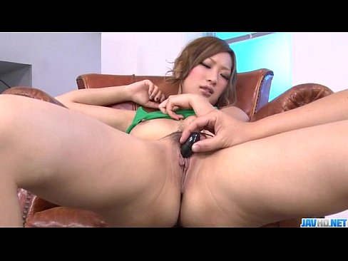 Toy porn session along big tits Japanese Aika